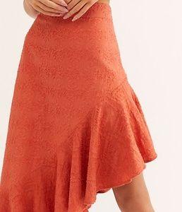 FreePeople Serena textured asymmetric ruffle skirt